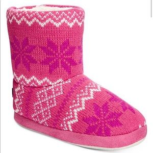 Stride Right Boot Slippers - Pink Fair Isle